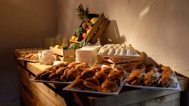 Catering voor zakelijk evenement