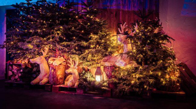 Kerstboom decoratie personeelsfeest